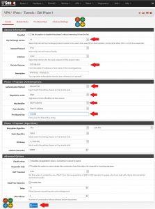 Configuração phase 1 VPN IPsec - pfSense2