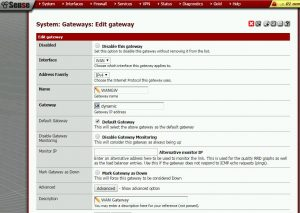Configurando Gateway Wan para dinamico