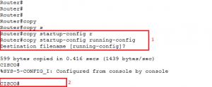 Copiando o arquivo de configuração da NVRAM para a memória RAM (que esta em execução)