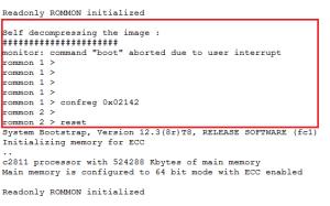Interrompendo a inicialização da NVRAM e alterando a ordem de boot